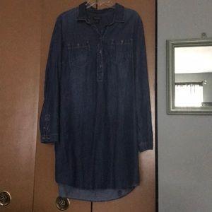 Lucky Brand jean dress/tunic